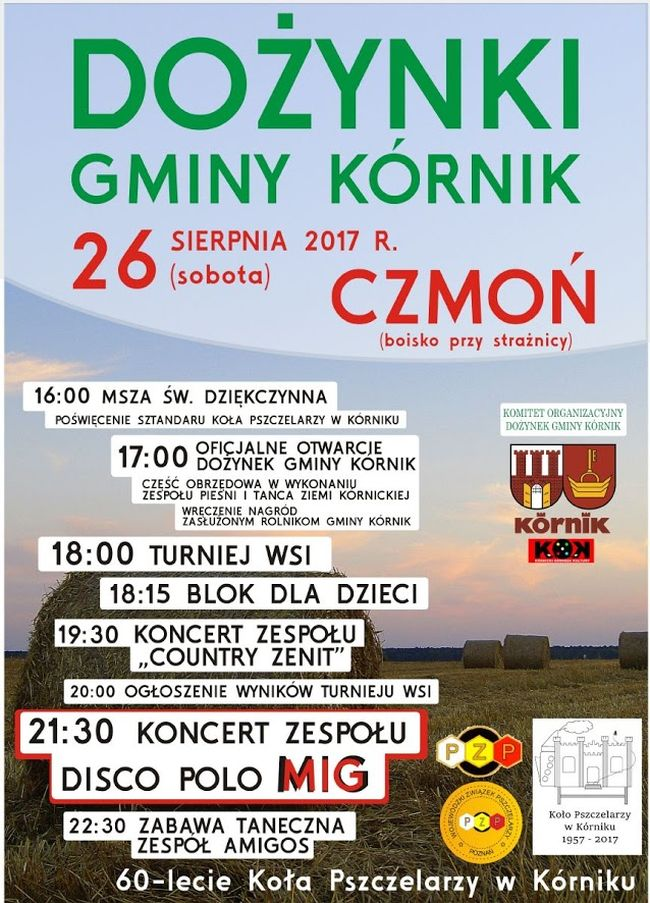 2017.08.26 Dożynki Gminy Kórnik w Czmoniu