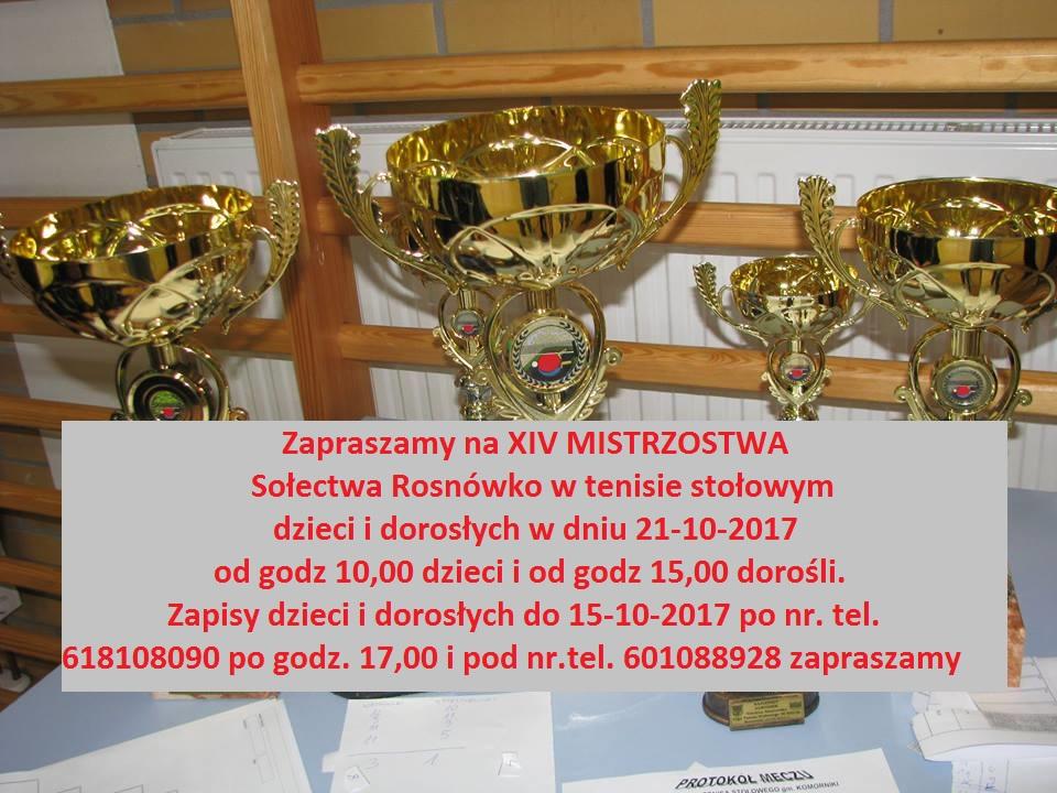 Mistrzostwa Rosnówka