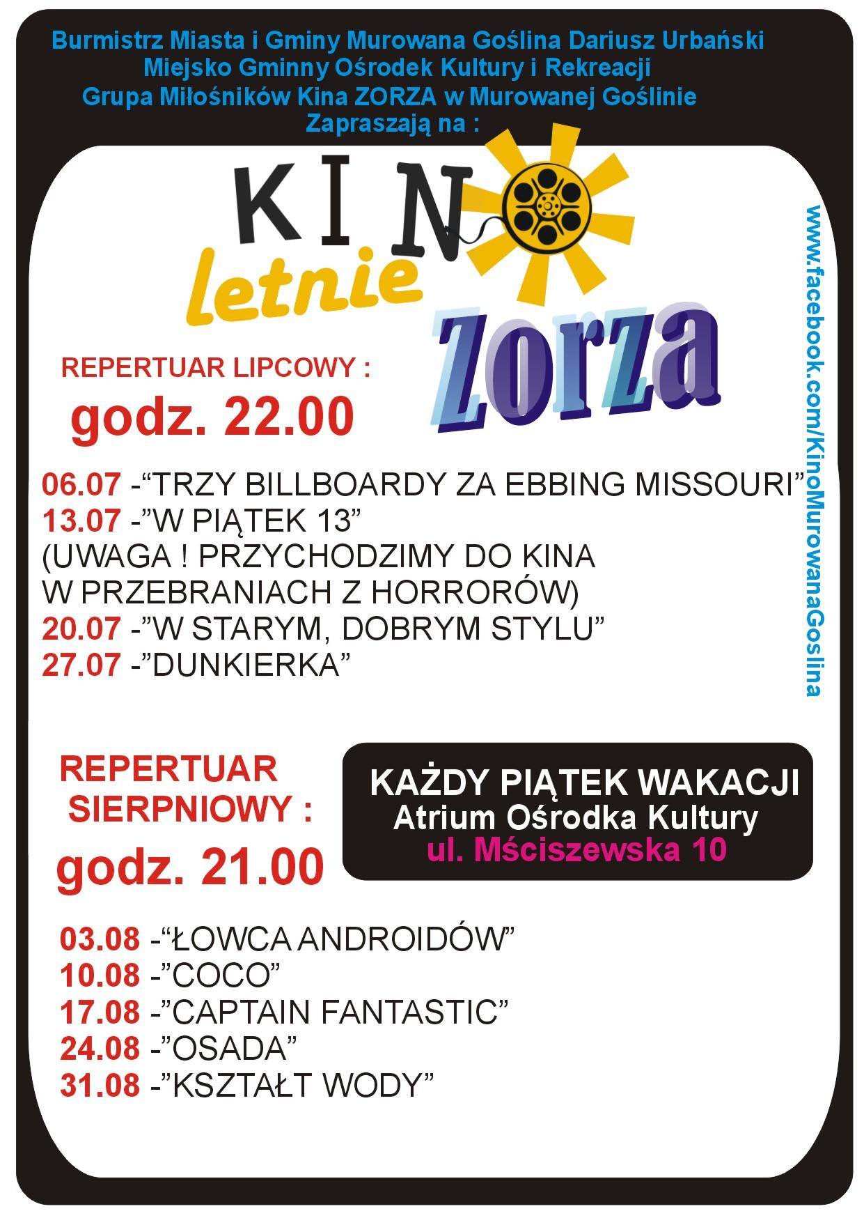 Kino Letnie w M.Goślinie