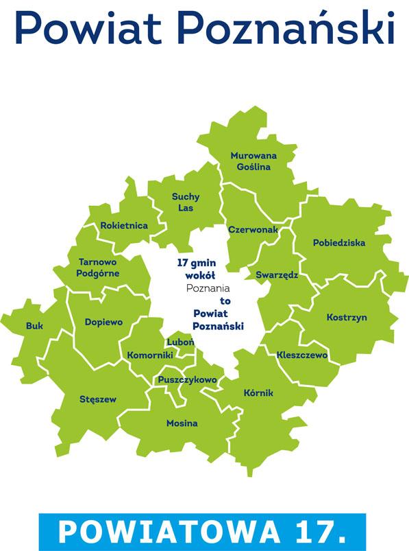 Mapa Powiat Poznański - Powiatowa 17