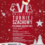 Plakat na turniej szachowy w Zakrzewie na 15 i 16 grudnia 2018