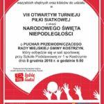 Turniej piłki siatkowej w Kostrzynie