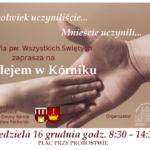 Plakat na Betlejem Kórnickie na 16 grudnia 2018