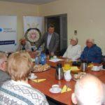 Uczestnicy wykładu o Powstaniu Wielkopolskim w Aubomobilklubie Wielkopolski