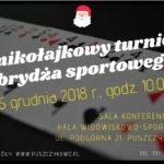 Plakat na turniej brydża sportowego w Puszczykowie na 15 grudnia 2018