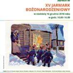 Plakat na jarmark bożonarodzeniowy w Szreniawie na 16 grudnia 2018