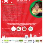 Plakat na festyn bożonarodzeniowy na 15 grudnia 2018 w Plewiskach