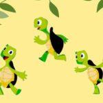 grafika 3 uśmiechniętę żółwie
