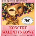 plakat Bal w operze koncert walentynkowy