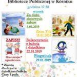 plakat bajkoczytanie w Bibliotece Publicznej w Kórniku