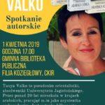 plakat spotkanie autorskie z Tanya Valko