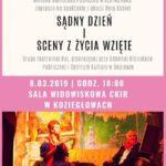 plakat dzień kobiet z biblioteką 8 marca 2019 godzina 18:00