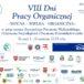 Plakat VIII Dni Pracy Organicznej w Poznaniu w dniach od 1 do 16 kwietnia 2019