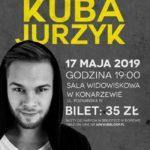 Plakat na koncert Kuby Jurzyka w Dopiewie na 17 maja 2019