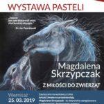 Plakat na wystawę pasteli na 25 marca 2019 w Pobiedziskach