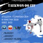 Plakat na zawody teakwondo na 6 kwietnia 2019 w Stęszewie