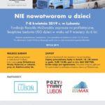 Plakat na bezpłatne badania profilaktyczne na 7 i 8 kwietnia w Luboniu