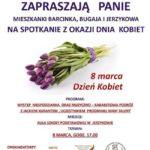 Plakat na spotkanie z okazji Dnia Kobiet w Jerzykowie na 8 marca 2019