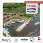 Plakat na otwarcie Akwenu Marina na 11 maja 2019