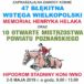 Plakat 47 Błękitnej Wstęgi Wielkopolski Memoriał Henryka Helaka oraz 10 Otwarte Mistrzostwa Powiatu Poznańskiego, 2-5 maja 2019, Hipodrom Stadniny Koni Iwno