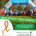 Plakat Bieg Wiosny, Przystań Rowerowa w Pawłowicach, 27 kwietnia 2019, godz. 10:00
