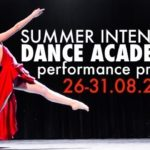 Plakat Summer intensive Dance Academy performance project 26-31.08.2019