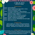 Plakat Majówki w Robakowie, 1 maja 2019, Boisko przy ul. Szkolnej, godz.15:00