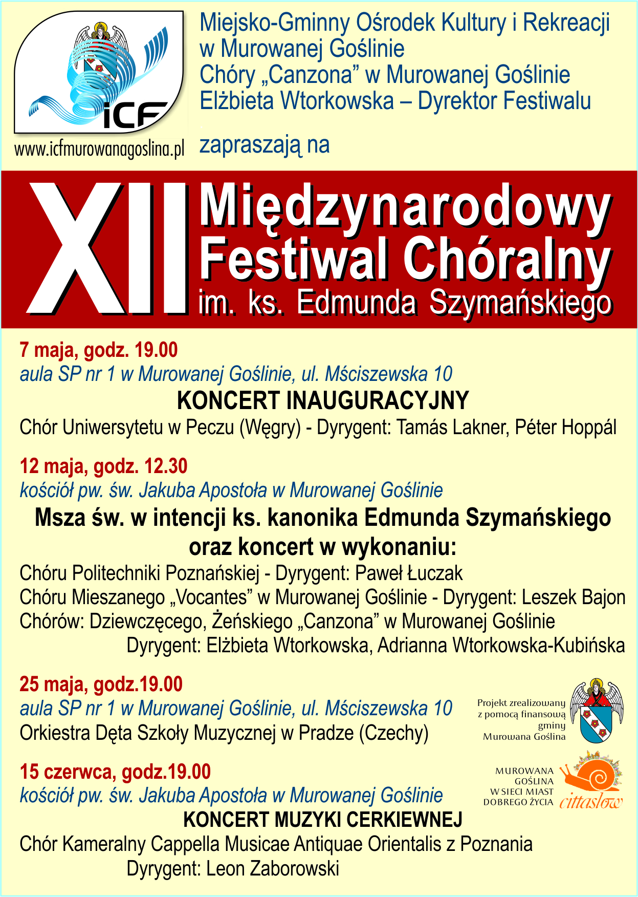 XII Festiwal Chóralny