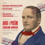 Plakat Koncertu Arie i Pieśni Stanisława Moniuszki 5 maj 2019 w Chludowie godz. 16:00