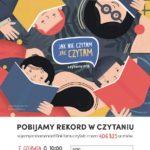 Plakat Pobijamy Rekord w Czytaniu, 7 czerwca 2019, godz. 10:00, Pobiedziska, Rynek