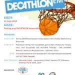 Plakat Dzień Sportu z Decathlonem, 31 maja 2019, Parking przy Decathlon Komorniki, godz. 11:00