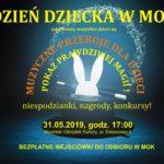 Plakat Dzień Dziecka w Mosiński Ośrodek Kultury, 31.05.2019. godz. 17:00
