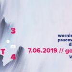 Plakat wernisaż wystawy pracowni ceramiki dla dorosłych, 7 czerwca 2019, godz. 17:00, wstęp wolny