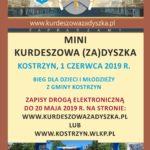 Plakat 7 Kurdeszowa (Za)dyszka, Kostrzyn, 2 czerwca 2019r., Bieg na 5 i 10 km