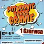 Plakat Potwornie Dobre Granie, 1 czerwca 2019, godz. 12:00-17:00, hala widowiskowo-sportowa w Puszczykowie, wstęp wolny