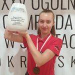 Reprezentantka Akademii Bilardowej Rokietnica na mistrzostwach Polski juniorów w Kielcach