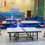 Tenisistki stołowe LKTS Luveny Luboń podczas meczu