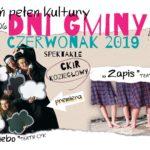 """Plakat Dni Gminy czerwonak, 3-9.06.2019, 5 czerwca spektakl """"Zapis"""""""