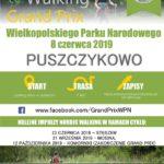 Plakat Nordic Walking Grand Prix Wielkopolskiego Parku Narodowego, 8 czerwca 2019, Puszczykowo