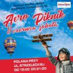 Plakat Aero Piknik, 8 czerwca 2019, godz. 15:00-21:00, Swarzędz, Polana przy ul. Strzeleckiej