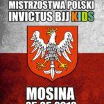 Plakat Mistrzostwa Polski Invictus BJJ Kids, Mosina 25.05.2019