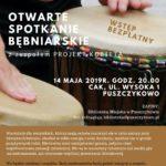Plakat Otwarte Spotkania Bębniarskie, 14 maja 2019, godz. 20:00, CAK Puszczykowo