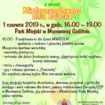 Plakat Rodzinny Festyn z okazji Międzynarodowego Dnia Dziecka, 1 czerwca 2019r. Park Miejski w Murowanej Goslinie, godz. 16:00-19:00