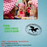 Plakat Warsztaty Kulinarne 23.05.2019r, Sala Piwnica GOK w Komornikach, godz. 17:00-18:30