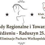 Plakat Zawody Regionalne i Towarzyskie w Ujeżdzaniu- Raduszyn 25.05.2019r. Eliminacje Pucharu Wielkopolski