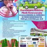 Plakat Charytatywny Rodzinny Piknik Motoryzacyjny, 15.06.2019r, Szreniawa- Muzeum Rolnictwa, godz. 10:00-18:00
