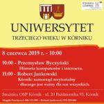 Plakat Uniwersytet Tzreciego Wieku, 8.06.2019r., godz. 10:00, Strażnica OSP Kórnik