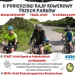 Plakat II Pobiedziski Raj Rowerowy Trzech Parków, 15.06.2019r., godz. 12:00