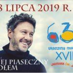 Plakat na koncert urodzinowy Murowanej Gośliny na lipiec 2019