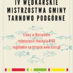 Plakat na zawody wędkarskie w Tarnowie Podgórnym na 4 sierpnia 2019